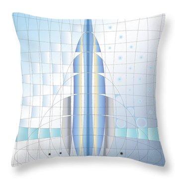 Atomic Rocket Throw Pillow