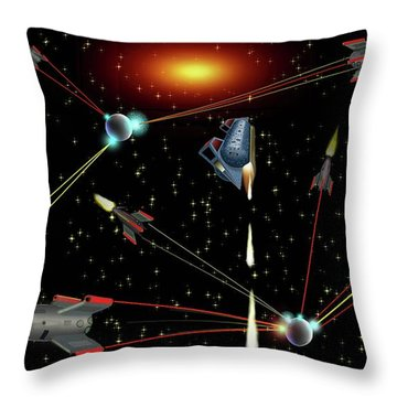 Attacked Throw Pillow