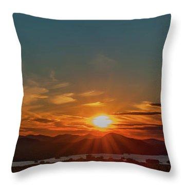 Attean Pond Sunset Throw Pillow