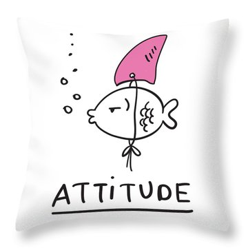 Attitude - Baby Room Nursery Art Poster Print Throw Pillow