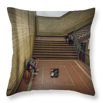 Throw Pillow featuring the photograph Audience by Alex Lapidus