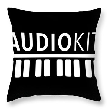 Audiokit Hanes Black And White Shirt Mens Or Womens Rock Favorite Music Throw Pillow