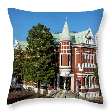 Augusta Cotton Exchange - Augusta Ga Throw Pillow