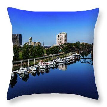 Augusta Ga Savannah River 2 Throw Pillow