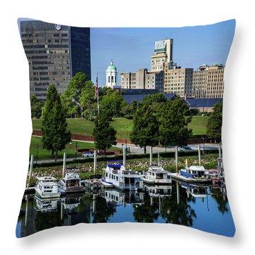 Augusta Ga Savannah River 3 Throw Pillow