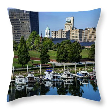 Augusta Ga Savannah River 3 Throw Pillow