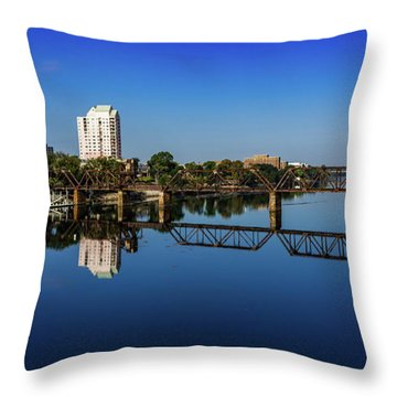 Augusta Ga Savannah River Panorama Throw Pillow