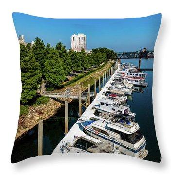Augusta Ga - Savannah River Throw Pillow