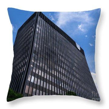 Augusta University Building 2 Throw Pillow