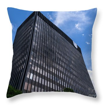 Augusta University Building 2 Throw Pillow