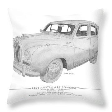 Austin A40 Somerset Saloon Throw Pillow