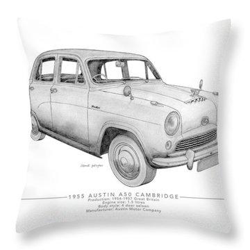 Austin A50 Cambridge Saloon Throw Pillow