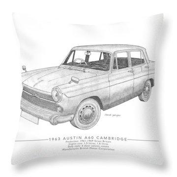 Austin A60 Cambridge Saloon Throw Pillow