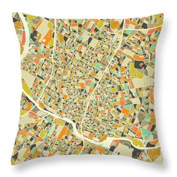 Austin Map 1 Throw Pillow