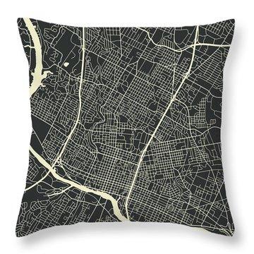 Austin Map 3 Throw Pillow
