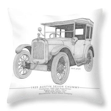 Austin Seven Chummy Tourer Throw Pillow