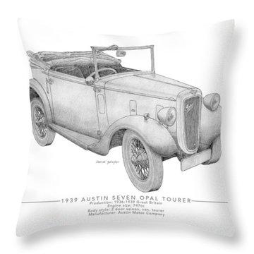 Austin Seven Opal Tourer Throw Pillow