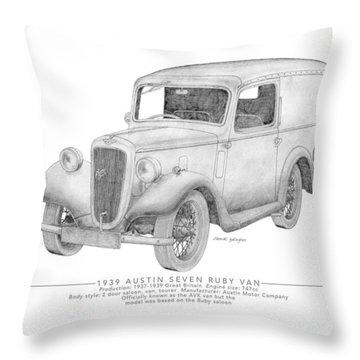 Austin Seven Ruby Van Throw Pillow