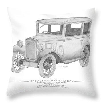 Austin Seven Saloon Throw Pillow