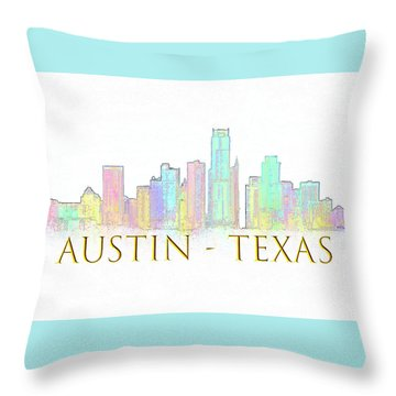 Austin Skyline Throw Pillow