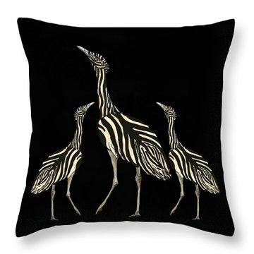 Australian Bustard Zebra 2 Throw Pillow