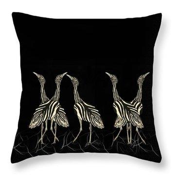 Australian Bustard Zebra 7 Throw Pillow