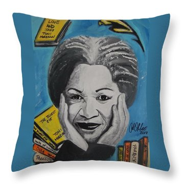Author Toni Throw Pillow