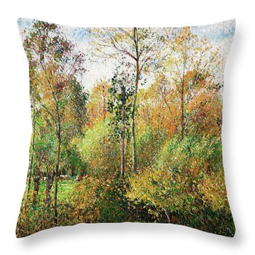 Automne, Peupliers, Eragny - Digital Remastered Edition Throw Pillow