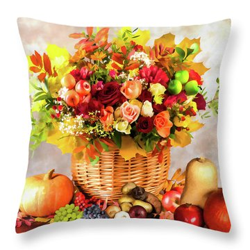 Autum Harvest Throw Pillow