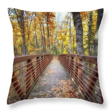 Autumn At Frog Bay  Throw Pillow