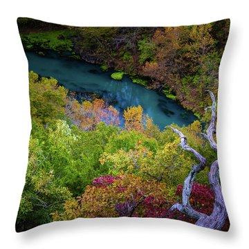 Autumn At Ha Ha Tonka State Park Throw Pillow