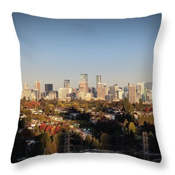 Autumn At The City Throw Pillow