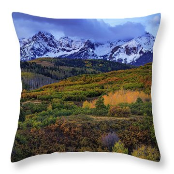 Autumn At The Dallas Divide Throw Pillow