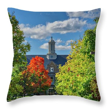 Throw Pillow featuring the photograph Autumn Beauty At Cornell University - Ithaca, New York by Lynn Bauer