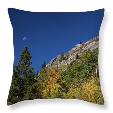 Throw Pillow featuring the photograph Autumn Bella Luna by James BO Insogna