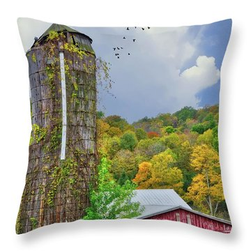 Throw Pillow featuring the photograph Autumn Bliss On The Farm - Finger Lakes, New York by Lynn Bauer