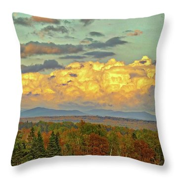 Autumn Clouds Over Maine Throw Pillow