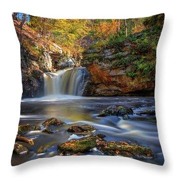 Autumn Day At Doane's Falls Throw Pillow