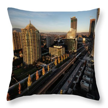 Autumn In Burnaby Throw Pillow