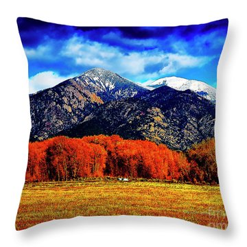 Autumn In Taos New Mexico Throw Pillow