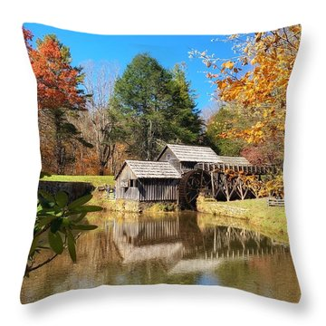 Autumn Mabry Mill Throw Pillow