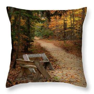 Autumn Meetup Throw Pillow