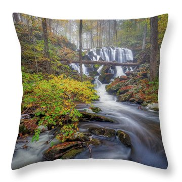 Throw Pillow featuring the photograph Autumn Mist by Bill Wakeley