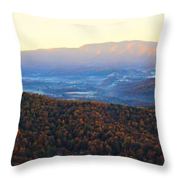 Throw Pillow featuring the photograph Autumn Mountains  by Candice Trimble