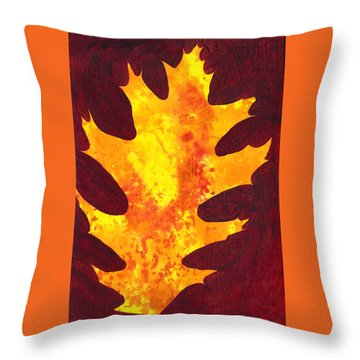 Autumn Oak 2 Throw Pillow