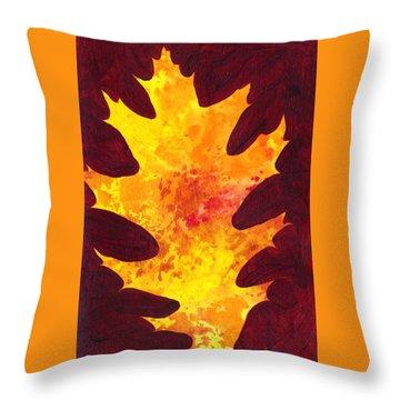 Autumn Oak 3 Throw Pillow