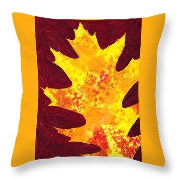 Autumn Oak 4 Throw Pillow