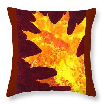 Autumn Oak 5 Throw Pillow