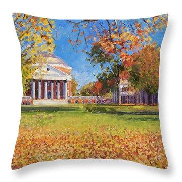 Autumn On The Lawn Throw Pillow