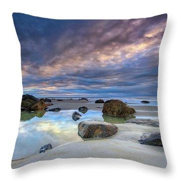 Throw Pillow featuring the photograph Autumn Sky At Wells Beach by Rick Berk